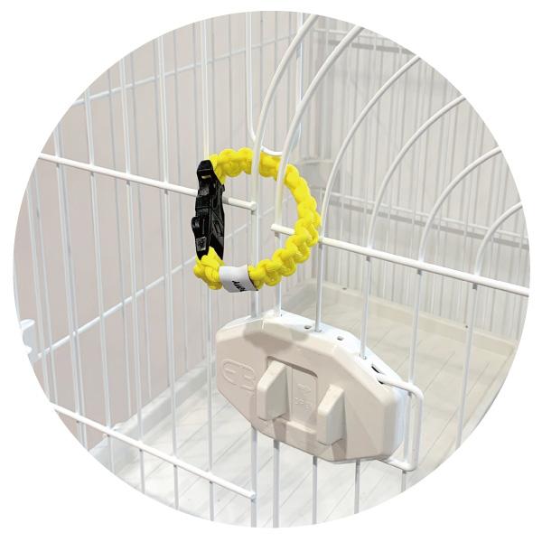 【リング】は他にも愛犬・愛猫のケージの扉につけて二重ロックに。