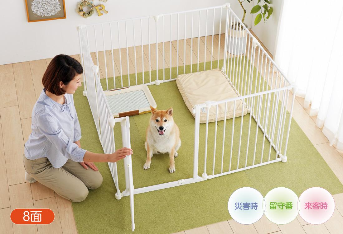 アレンジサークル・スチールは愛犬の成長に合わせてお好みのサイズ、形にアレンジ可能!